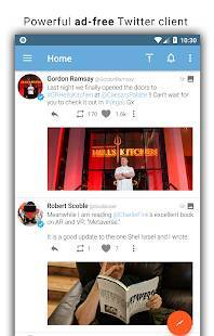 Androidアプリ「Tweetings for Twitter」のスクリーンショット 1枚目
