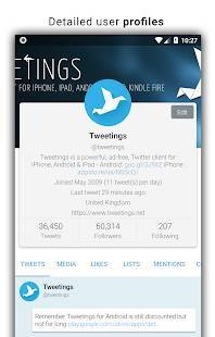 Androidアプリ「Tweetings for Twitter」のスクリーンショット 2枚目