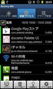 Androidアプリ「Battery Mix (バッテリーミックス)」のスクリーンショット 2枚目