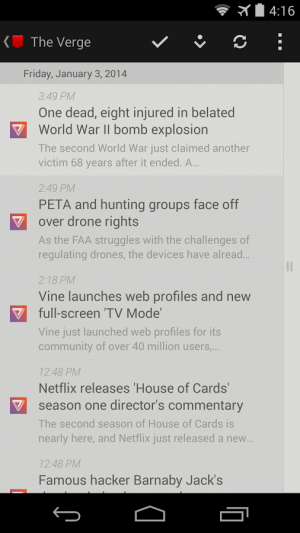 Androidアプリ「Press (RSS Reader)」のスクリーンショット 3枚目