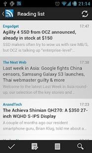 Androidアプリ「D7 Reader Pro (RSS | News)」のスクリーンショット 3枚目