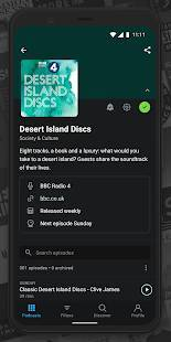 Androidアプリ「Pocket Casts - Podcast Player」のスクリーンショット 5枚目