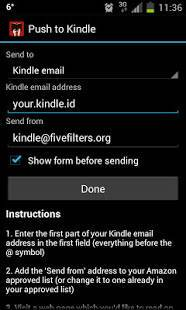Androidアプリ「Push to Kindle by FiveFilters.org」のスクリーンショット 2枚目