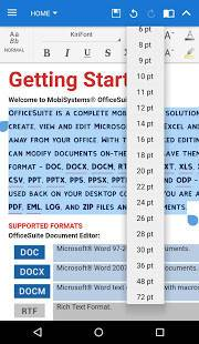 Androidアプリ「OfficeSuite Font Pack」のスクリーンショット 4枚目