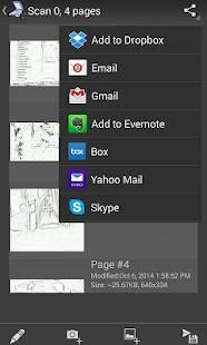 Androidアプリ「Mobile Doc Scanner (MDScan) + OCR」のスクリーンショット 4枚目