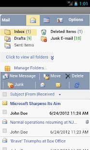 Androidアプリ「OWM for Outlook Email OWA」のスクリーンショット 2枚目