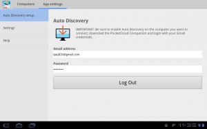 Androidアプリ「PocketCloud リモートデスクトップ RDP/VNC」のスクリーンショット 2枚目