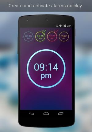 Androidアプリ「Neon Alarm Clock Free」のスクリーンショット 1枚目