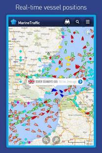 Androidアプリ「MarineTraffic ship positions」のスクリーンショット 1枚目