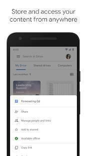 Androidアプリ「Google ドライブ」のスクリーンショット 1枚目