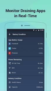 Androidアプリ「バッテリードクター(電池節約&充電管理&スマホ最適化)」のスクリーンショット 2枚目