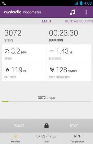 Androidアプリ「Runtastic Pedometer PRO 歩数計」のスクリーンショット 2枚目
