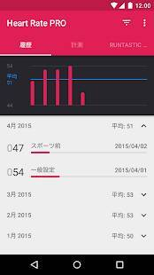 Androidアプリ「Runtastic Heart Rate PRO 心拍計」のスクリーンショット 2枚目