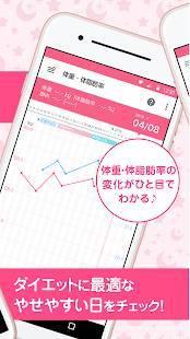 Androidアプリ「ラルーン:無料で生理/排卵日予測」のスクリーンショット 4枚目