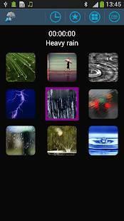 Androidアプリ「雨の音」のスクリーンショット 1枚目