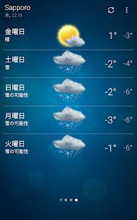 Androidアプリ「天気 - Weather」のスクリーンショット 3枚目