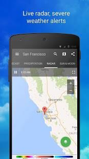 Androidアプリ「1Weather」のスクリーンショット 3枚目