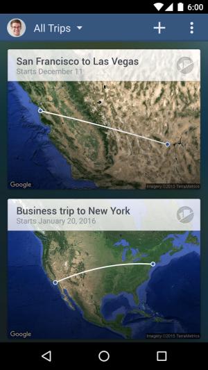 Androidアプリ「FlightTrack 5」のスクリーンショット 1枚目
