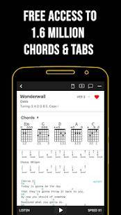 Androidアプリ「Ultimate Guitar: Chords & Tabs」のスクリーンショット 2枚目