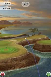 Androidアプリ「Flick Golf!」のスクリーンショット 3枚目