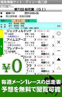 Androidアプリ「競馬デイリー馬三郎 デイリースポーツの競馬予想・情報アプリ」のスクリーンショット 2枚目