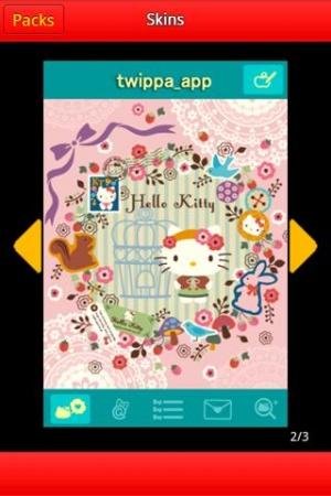 Androidアプリ「ハローキティtwippa」のスクリーンショット 3枚目