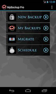 Androidアプリ「My Backup Pro」のスクリーンショット 1枚目
