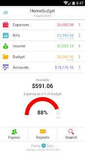 Androidアプリ「Home Budget with Sync」のスクリーンショット 1枚目