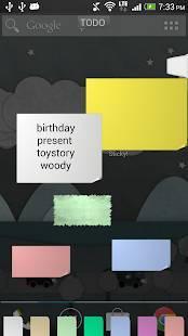 Androidアプリ「Sticky! (付箋メモ)」のスクリーンショット 2枚目