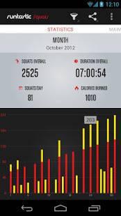 Androidアプリ「Runtastic Squats PRO スクワットカウント」のスクリーンショット 2枚目