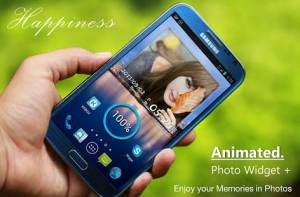 Androidアプリ「アニメーション写真ウィジェット +」のスクリーンショット 1枚目