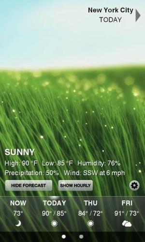 Androidアプリ「Weather HD」のスクリーンショット 2枚目