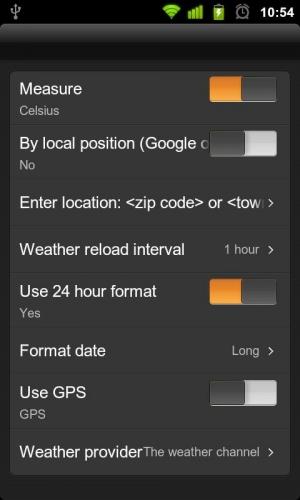 Androidアプリ「天気アニメーションデジタル時計」のスクリーンショット 4枚目