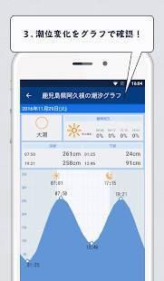 Androidアプリ「魚勝 潮見表/潮汐・潮位を検索」のスクリーンショット 5枚目