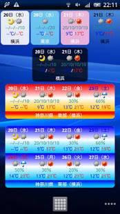 Androidアプリ「ss天気予報 new!」のスクリーンショット 2枚目