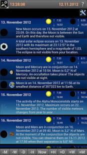 Androidアプリ「Mobile Observatory 2 - Astronomy」のスクリーンショット 3枚目