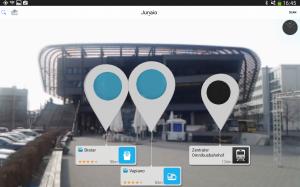 Androidアプリ「junaio ジュナイオ Augmented Reality」のスクリーンショット 1枚目