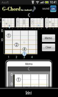 Androidアプリ「GChord (ギターコード)」のスクリーンショット 2枚目