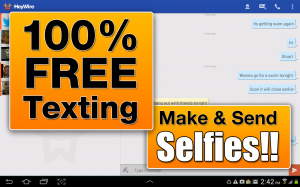 Androidアプリ「HeyWire Text  FREE Texting」のスクリーンショット 1枚目