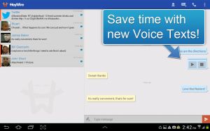 Androidアプリ「HeyWire Text  FREE Texting」のスクリーンショット 3枚目
