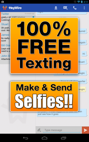 Androidアプリ「HeyWire Text  FREE Texting」のスクリーンショット 5枚目