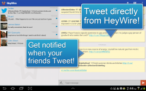 Androidアプリ「HeyWire Text  FREE Texting」のスクリーンショット 4枚目