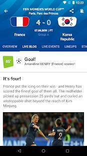 Androidアプリ「FIFA Women's World Cup France 2019™ Official App」のスクリーンショット 3枚目