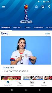 Androidアプリ「FIFA Women's World Cup France 2019™ Official App」のスクリーンショット 1枚目