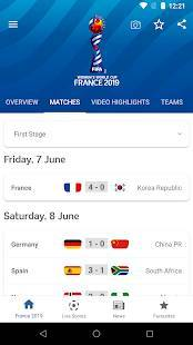 Androidアプリ「FIFA Women's World Cup France 2019™ Official App」のスクリーンショット 2枚目