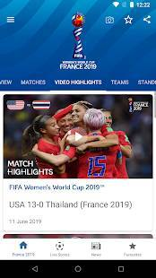 Androidアプリ「FIFA Women's World Cup France 2019™ Official App」のスクリーンショット 4枚目