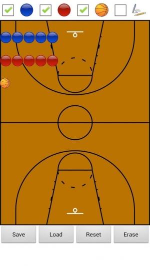 Androidアプリ「バスケットボールの戦術版」のスクリーンショット 1枚目