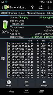 Androidアプリ「3C Battery Monitor Widget Pro」のスクリーンショット 4枚目
