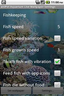 Androidアプリ「aniPet海洋水族館ライブ壁紙(無料版)」のスクリーンショット 2枚目