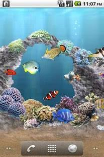 Androidアプリ「aniPet海洋水族館ライブ壁紙(無料版)」のスクリーンショット 4枚目